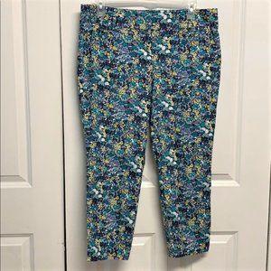 Ann Taylor Loft Marisa Crop Pants Size 12 Floral